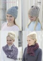 Sirdar Bouffle 50g - 719 Dahlia - FOUR FREE BOUFFLE PATTERNS FOR ORDER FIVE BALLS OR OVER